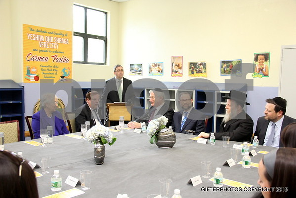 NYS SCHOOL CHANCELLOR CARMEN FARINA VISIT TO YESHIVA VERETSKY