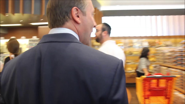 Rob Astorino Campaign Stop At Breadberry In Boro Park
